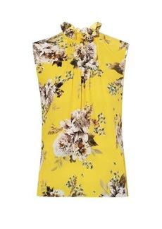 Erdem Ralph Carnation Bouquet-print crepe blouse