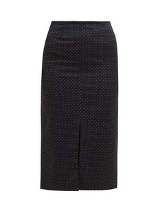 Erdem Retta polka-dot cotton-blend pencil skirt