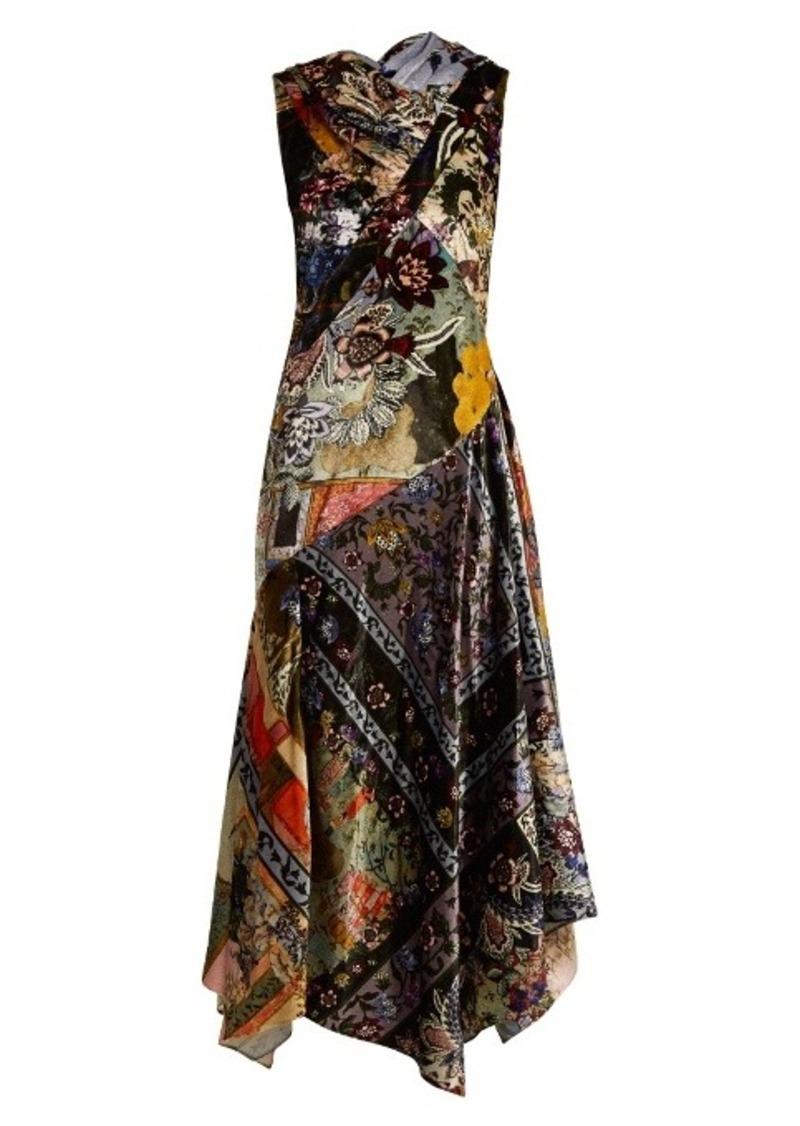 Erdem Reza floral-print velvet gown