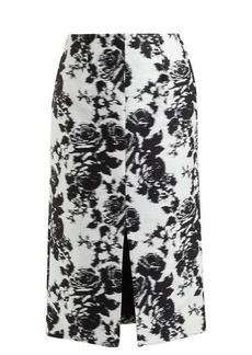 Erdem Rhetta Rosechine-jacquard pencil skirt