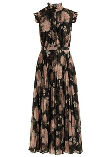 Erdem Roisin Dutch Petal-print pleated midi dress