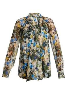 Erdem Rosabel Mariko-Meadow silk blouse