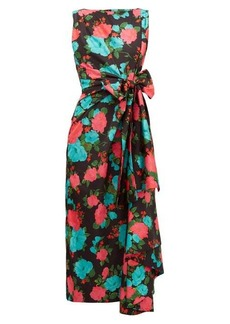 Erdem Rozaria floral-print satin midi dress