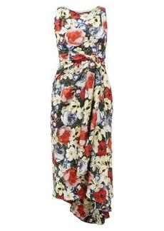 Erdem Rozaria Poppy Collage-print silk-satin dress