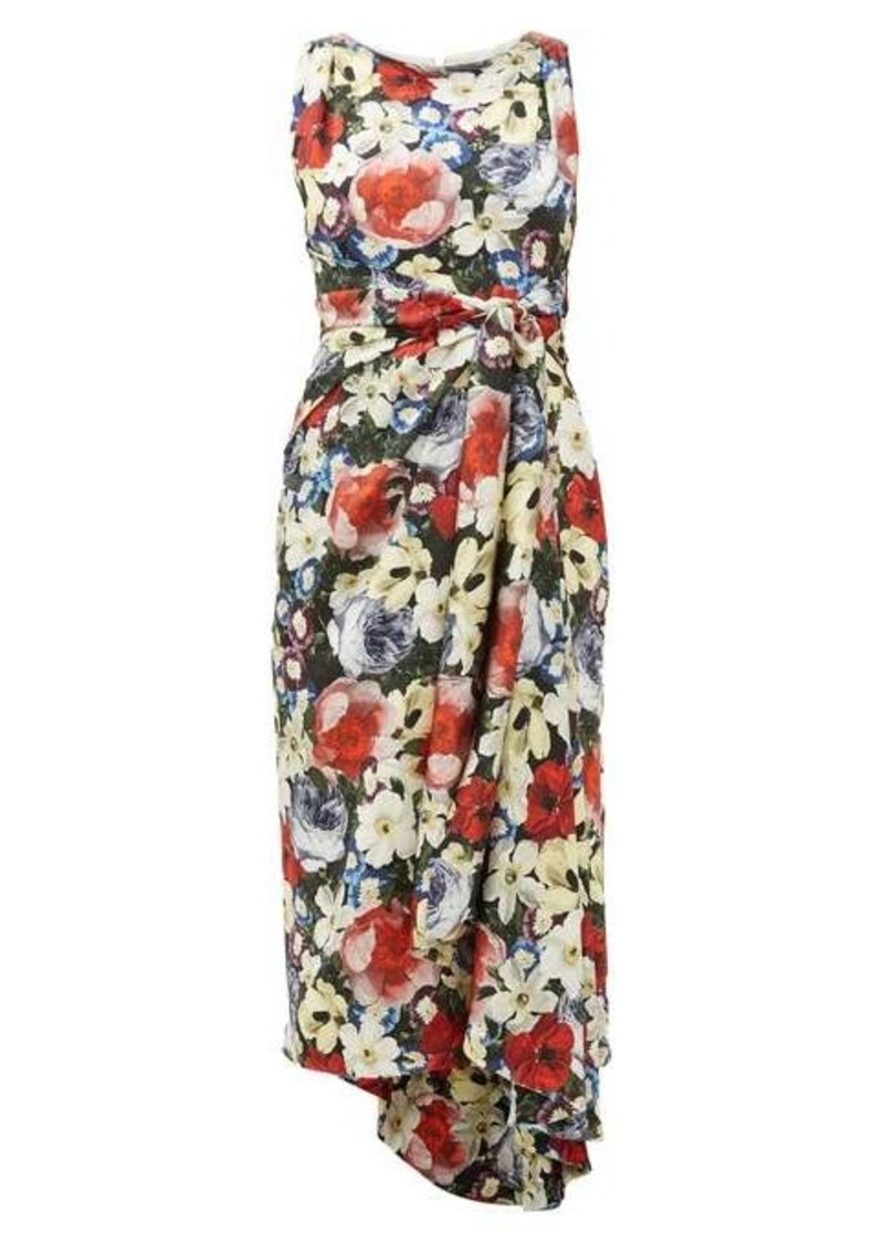 Erdem Rozaria floral-print silk-satin dress