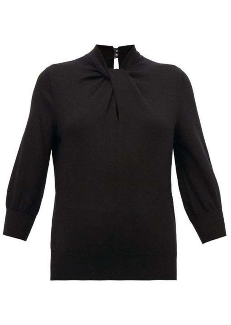 Erdem Rumer twisted-neckline cashmere-blend sweater