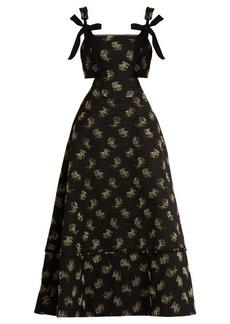 Erdem Salome Ottoman cotton-blend dress