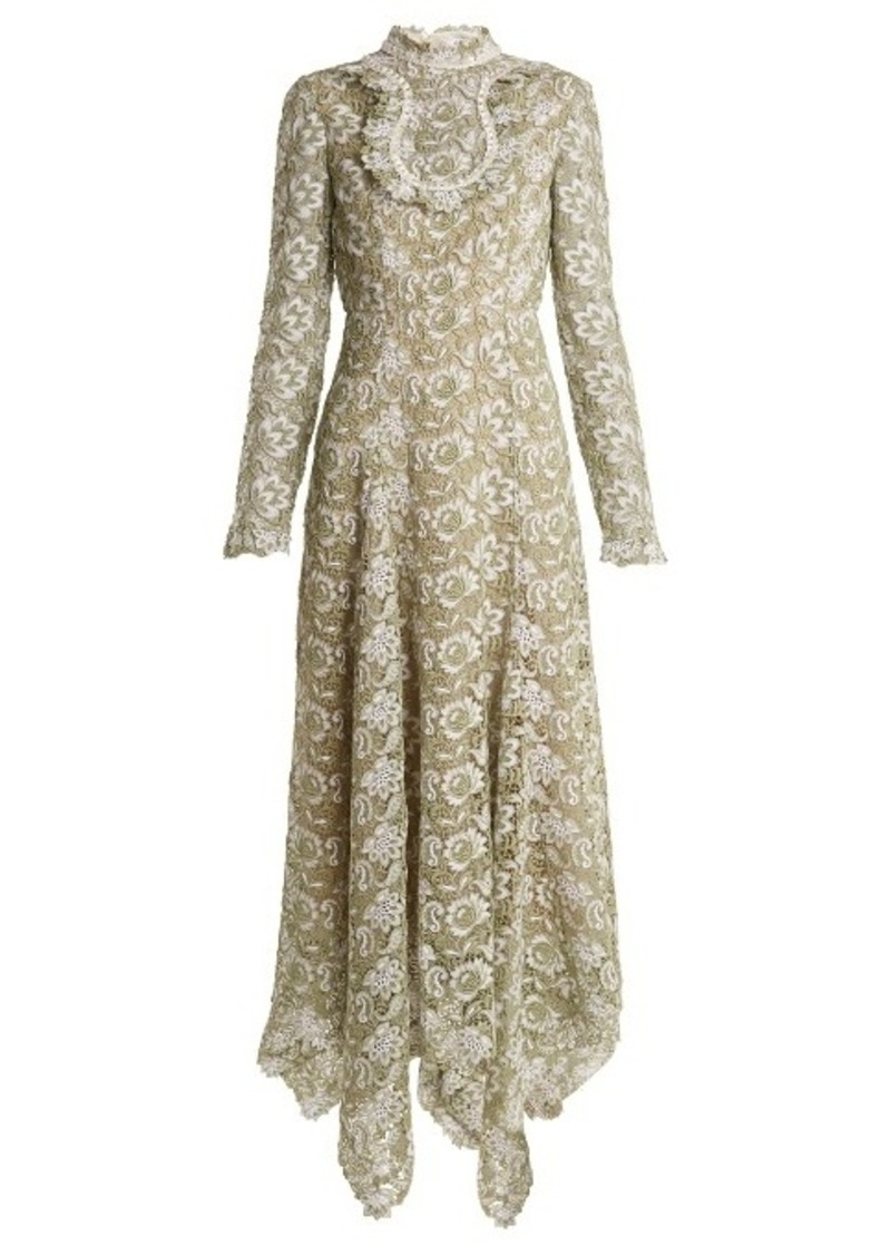 Erdem Shen high-neck floral guipure-lace dress