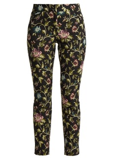Erdem Sidney floral-jacquard trousers