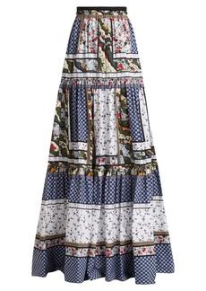 Erdem Sigrid floral-print cotton skirt