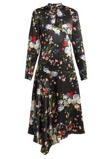 Erdem Sinclair Edith-print high-neck silk-satin dress
