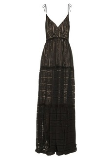 Erdem Solene floral-striped lace gown