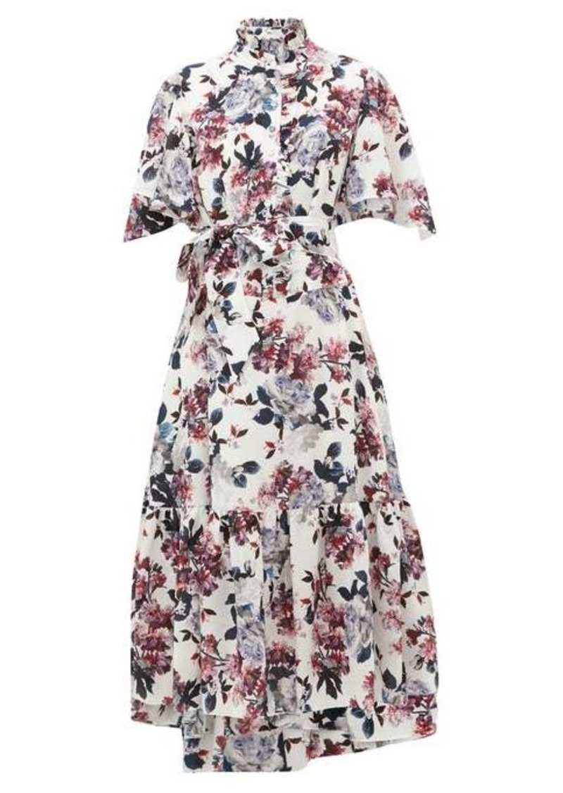 Erdem Stefanna floral-print silk-georgette dress