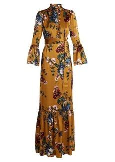 Erdem Stephanie floral-print silk gown