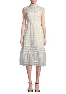 Erdem Striped Midi Dress