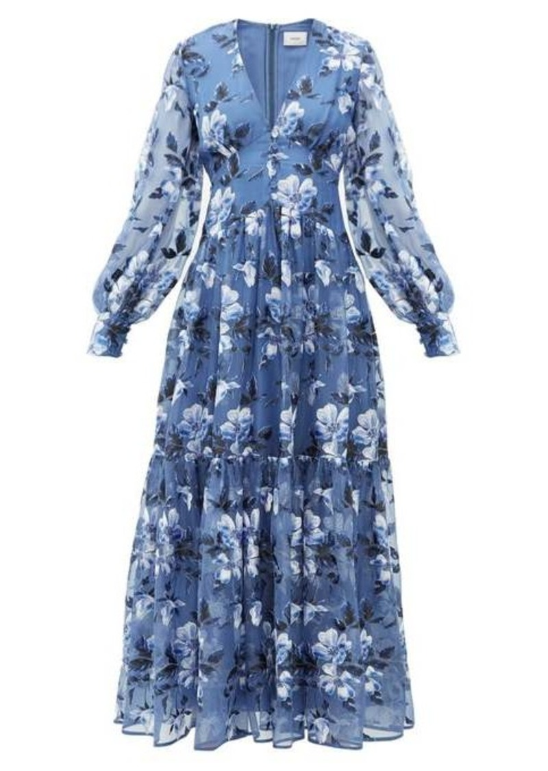 Erdem Tabetha floral-embroidered silk-organza gown