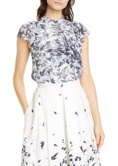 Erdem Toile Print Cotton Poplin Skirt