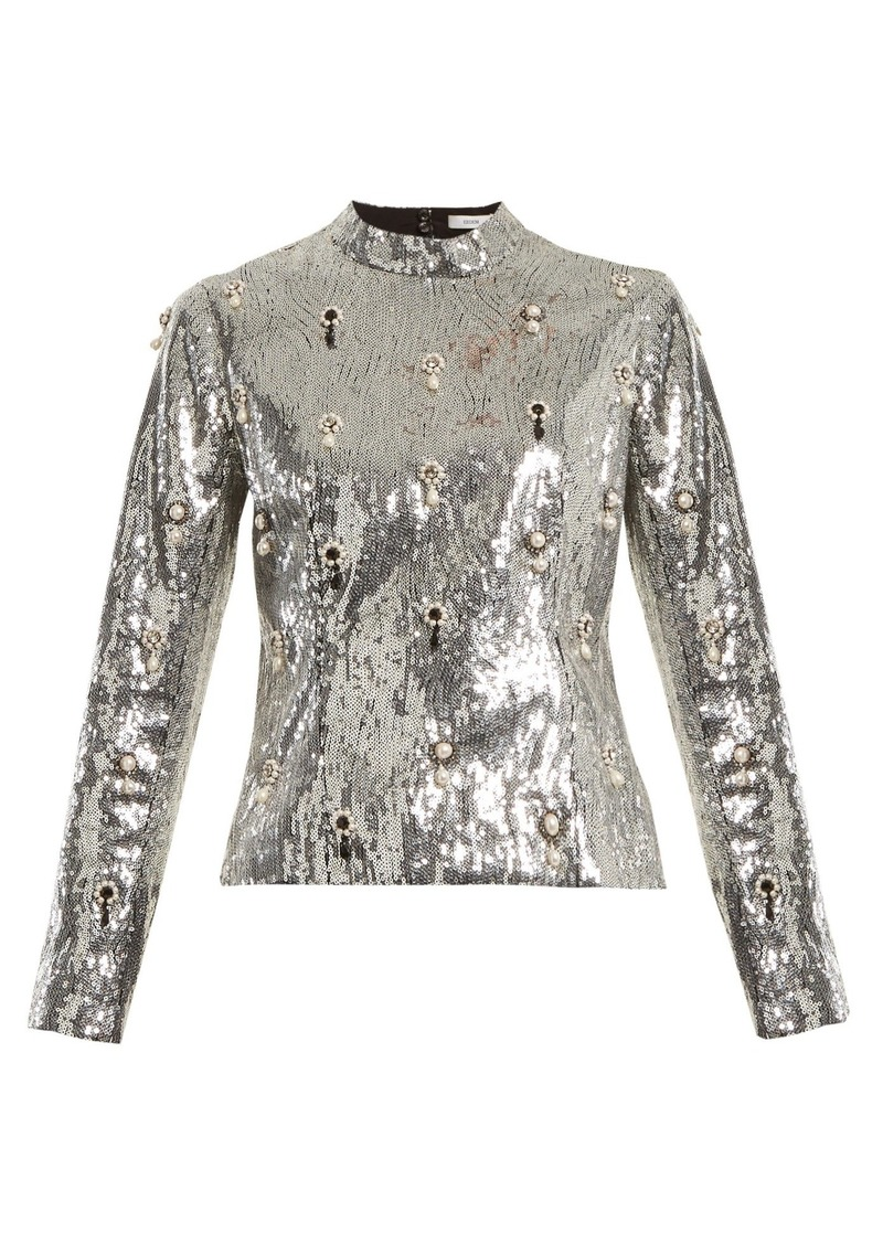 5ec892eca3cab Erdem Erdem Tonya sequin-embellished top Now  759.00