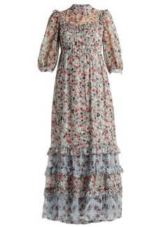Erdem Tricia Keiko Disty-print silk-voile dress