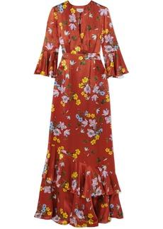 Erdem Venice floral-print silk-satin gown