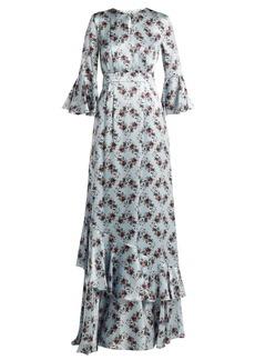 Erdem Venice Keiko-print silk gown