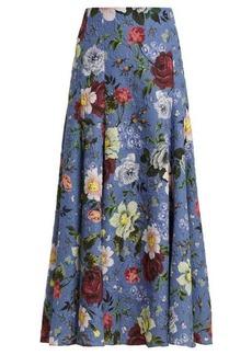 Erdem Vesper Getrude-print floral midi skirt