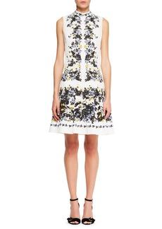 Erdem Windsor Sleeveless Floral-Print Wallpaper Faille A-Line Day Dress