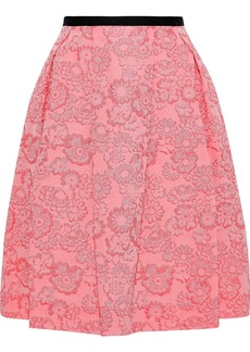 Erdem Woman Ari Pleated Jacquard Skirt Pink