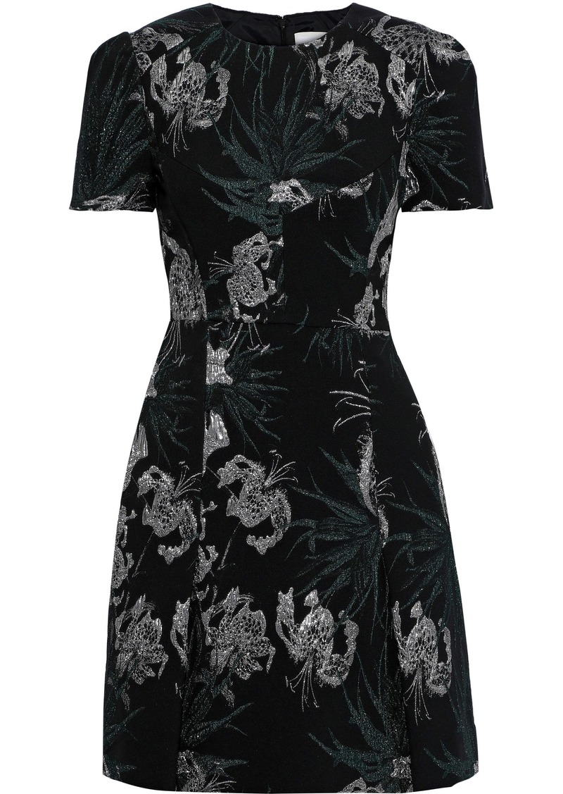 Erdem Woman Aubrey Brocade Mini Dress Black