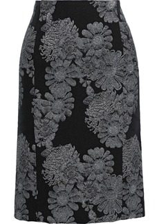 Erdem Woman Brenda Brocade Pencil Skirt Black