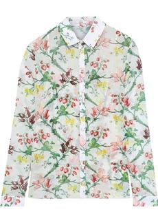 Erdem Woman Cecilia Printed Cotton-gauze Shirt Off-white