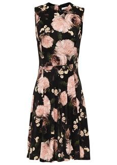 Erdem Woman Dylanne Flared Floral-print Jersey Dress Black