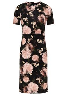 Erdem Woman Essie Floral-print Jersey Dress Black