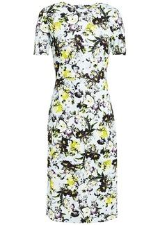 Erdem Woman Essie Floral-print Ponte Dress Sky Blue