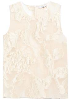 Erdem Woman Fil Coupé Crinkled-organza Top Cream