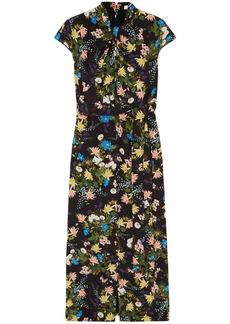 Erdem Woman Finn Floral-print Silk-crepe Midi Dress Black