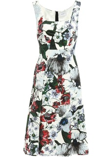 Erdem Woman Flared Floral-print Ponte Dress White