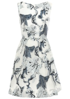 Erdem Woman Gathered Metallic Fil Coupé Organza Mini Dress Off-white