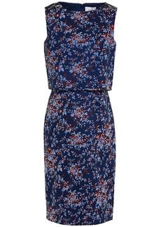 Erdem Woman Hoshie Layered Floral-jacquard Dress Indigo