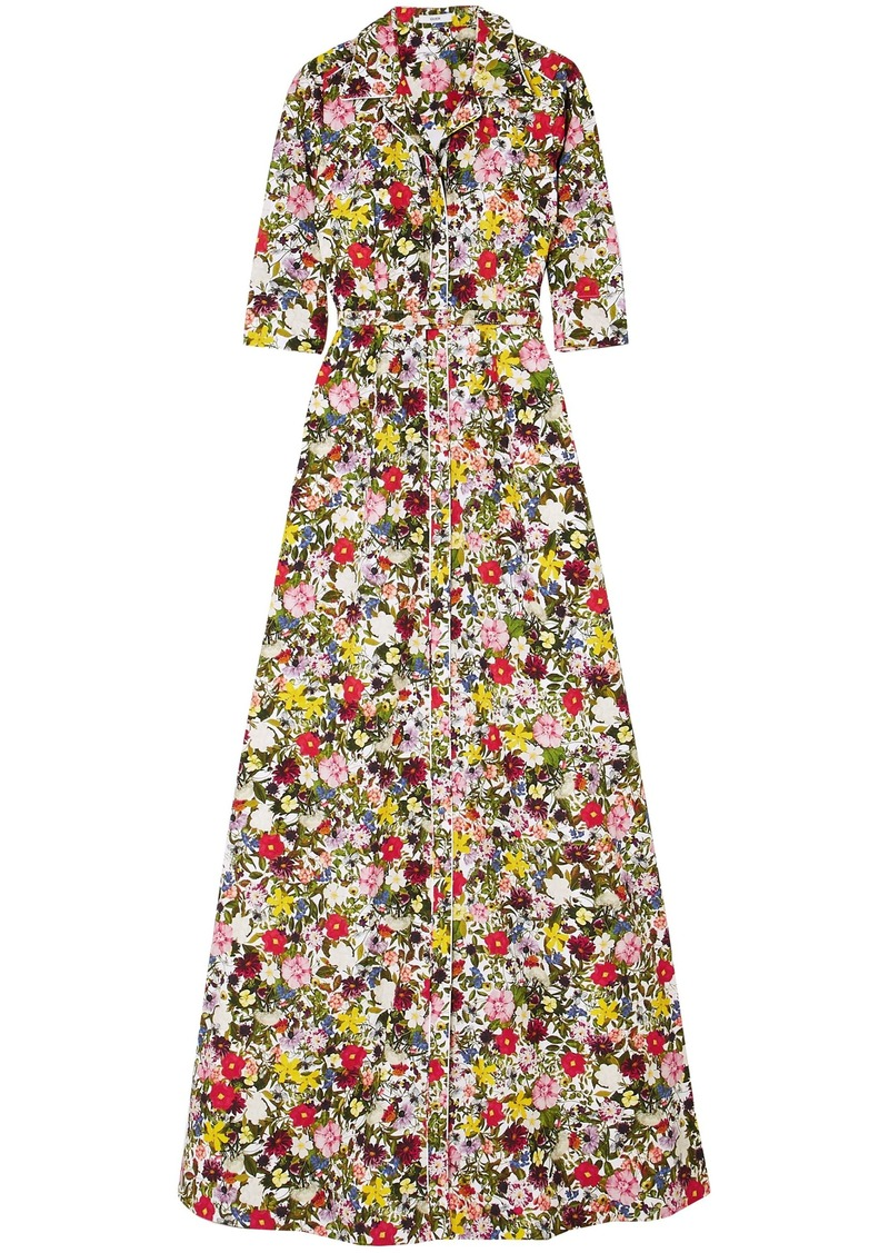 Erdem Woman Karissa Floral-print Cotton-poplin Gown Multicolor