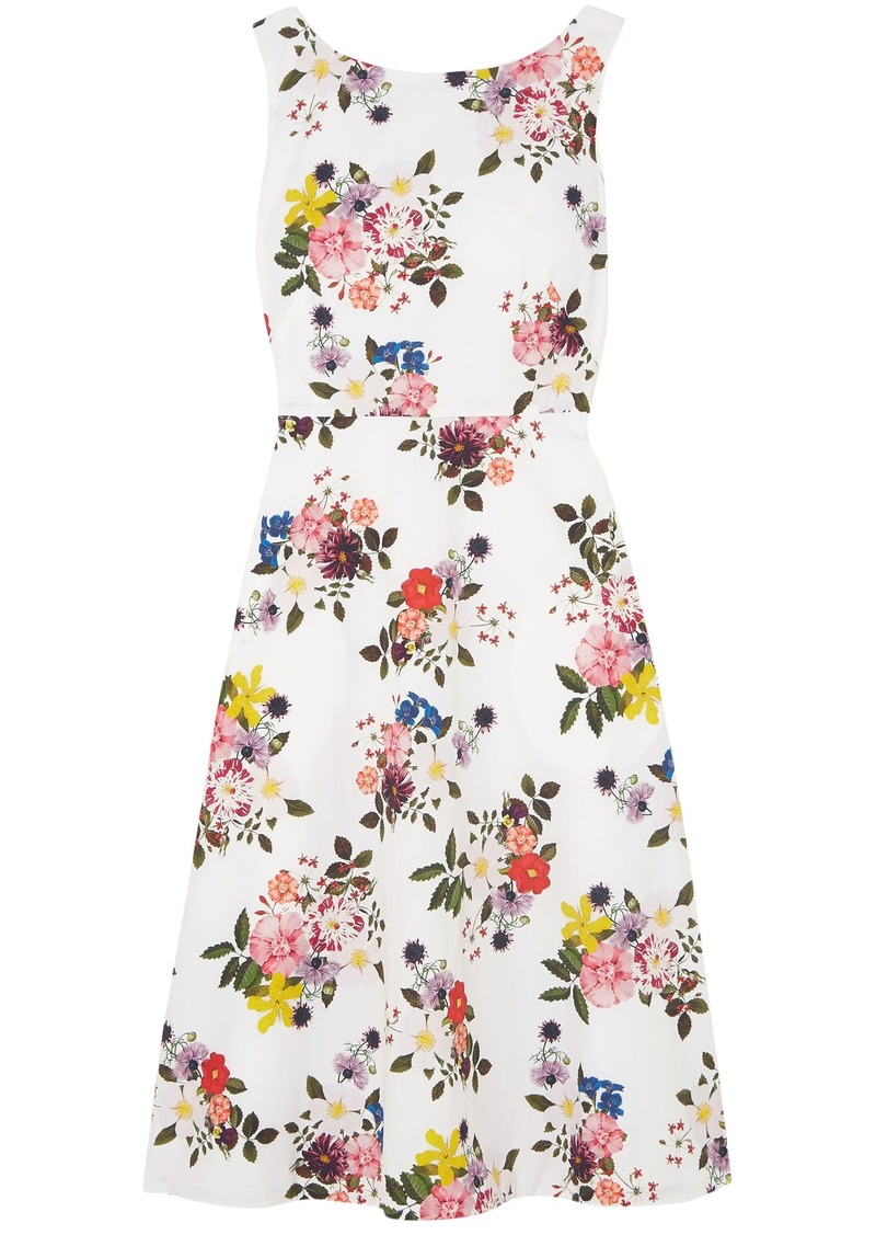 Erdem Woman Maia Floral-print Cotton-poplin Dress White