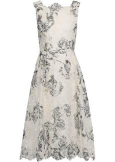 Erdem Woman Mara Printed Broderie Anglaise Silk Dress White