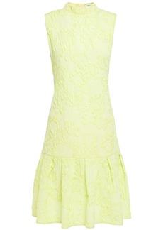 Erdem Woman Nena Fluted Cloqué Dress Bright Yellow