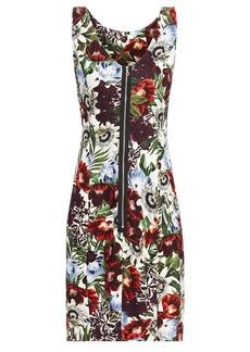 Erdem Woman Peyton Floral-print Jersey Mini Dress White