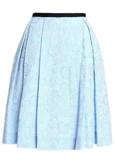 Erdem Woman Pleated Cloqué Skirt Sky Blue