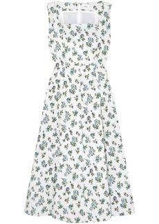 Erdem Woman Polly Floral-jacquard Midi Dress White