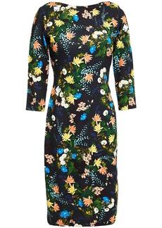 Erdem Woman Reese Floral-print Ponte Dress Black