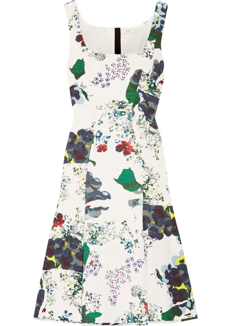 Erdem Woman Tate Floral-print Tech-jersey Dress White