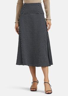 Erdem Women's Elvin Polka Dot Satin Skirt