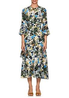 Erdem Women's Florence Floral Silk Midi-Dress